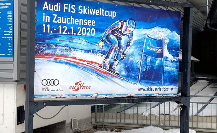 Key Visual for the Ski World Cup 2020 in Zauchensee