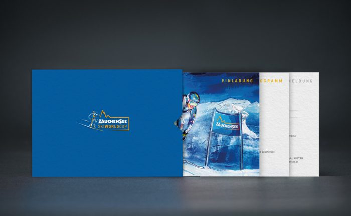 Invitation Design for the Ski World Cup 2020 in Zauchensee by Sign Creative
