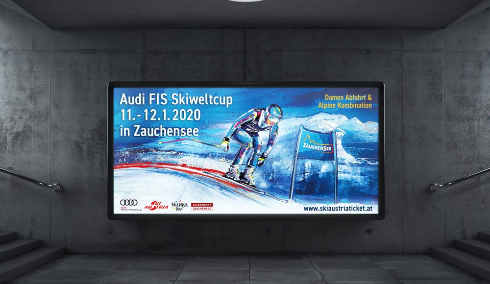 Keyvisual for the Ski World Cup 2020 in Zauchensee