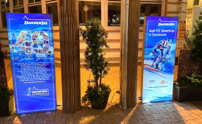 Lightboxes for the Ski World Cup 2020 in Zauchensee
